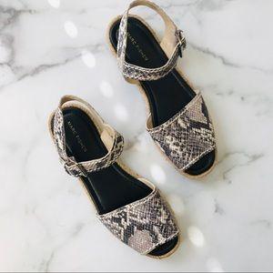 Marc Fisher snake espadrille sandals